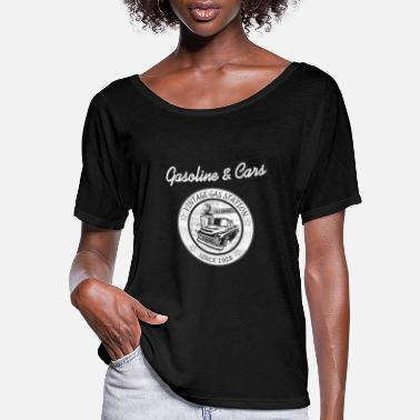 Station Vintage Gasoline & Cars - Women's Flowy T-Shirt