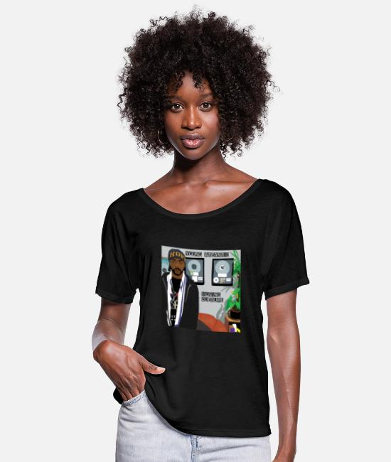 Rap T-Shirts - Moving culture - Women's Flowy T-Shirt black