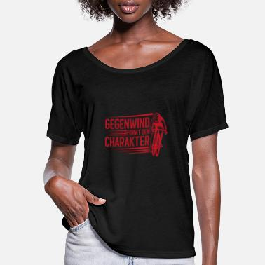 Bicycle Headwind shapes the character of a bicycle cyclist - Women's Flowy T-Shirt