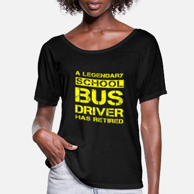 School Retired School Bus Driver Retirement Gift Idea - Women's Flowy T-Shirt