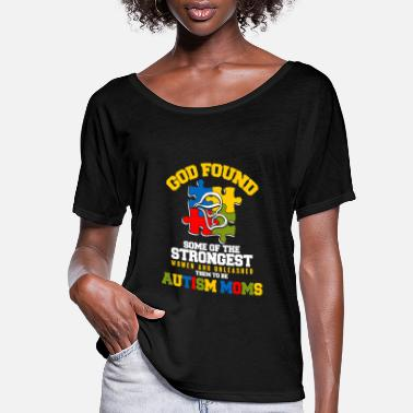 Spectrum Autism moms - God found some of the strongest - Women's Flowy T-Shirt