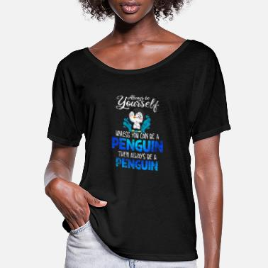 Seabird Penguins Seabirds - Women's Flowy T-Shirt