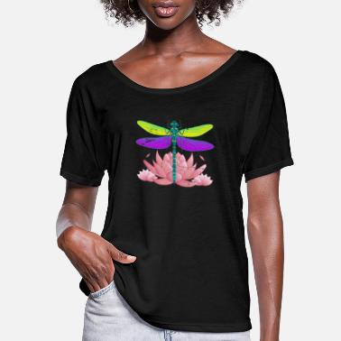 Insect Dragonfly - Women's Flowy T-Shirt