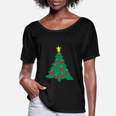 Decoration Christmas Tree and Decorations - Women's Flowy T-Shirt