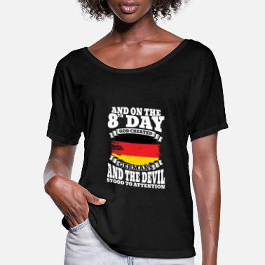 Federal Republic Of Germany Germany - On the 8th day god created germans - Women's Flowy T-Shirt