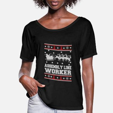 Glut Assembly line worker - Christmas worker sweater - Women's Flowy T-Shirt