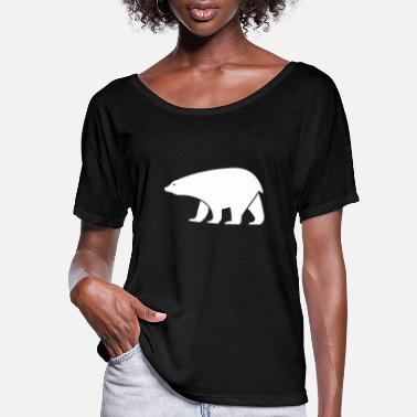 Drawing polar bear - Women's Flowy T-Shirt