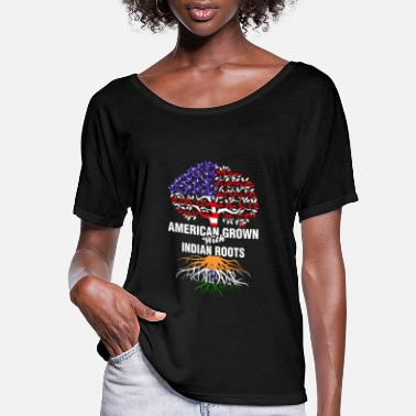 American With Indian Roots American Grown With Indian Roots - Women's Flowy T-Shirt