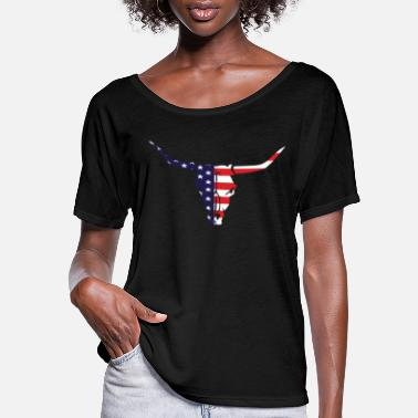 Usa 4th of July American Flag Vintage USA Men Women - Women's Flowy T-Shirt