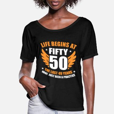 Party 50th Birthday - Women's Flowy T-Shirt