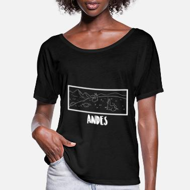 Andes Andes Mountain - Women's Flowy T-Shirt