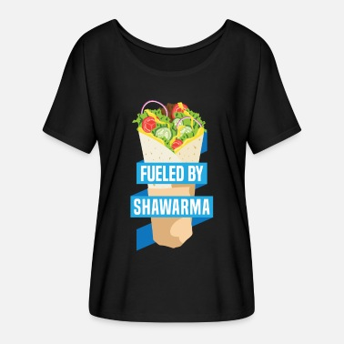 Shawarma Funny Middle Easten Arabic Shawarma Food Sandwich - Women's Flowy T-Shirt