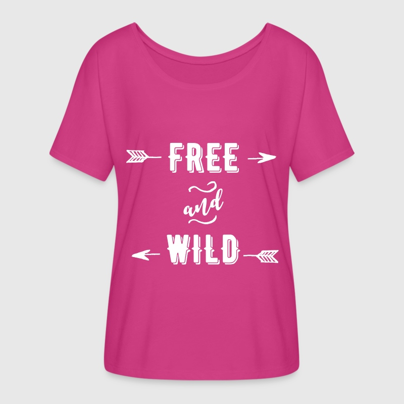 Free and Wild - Women's Flowy T-Shirt