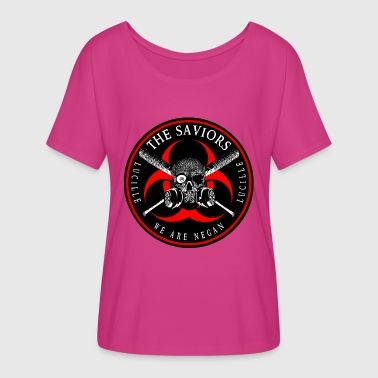 Biohazard The Saviors We Are Negan Ring Patch 2R - Women's Flowy T-Shirt