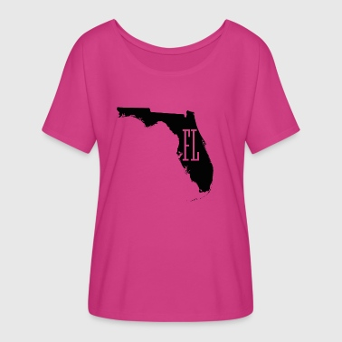 Florida State White Map - Women's Flowy T-Shirt
