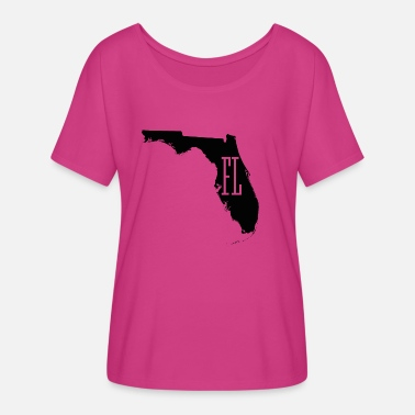 Florida Map Florida State White Map - Women's Flowy T-Shirt