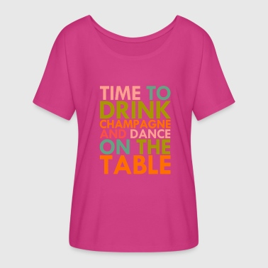 Time To Drink Champagne - Women's Flowy T-Shirt