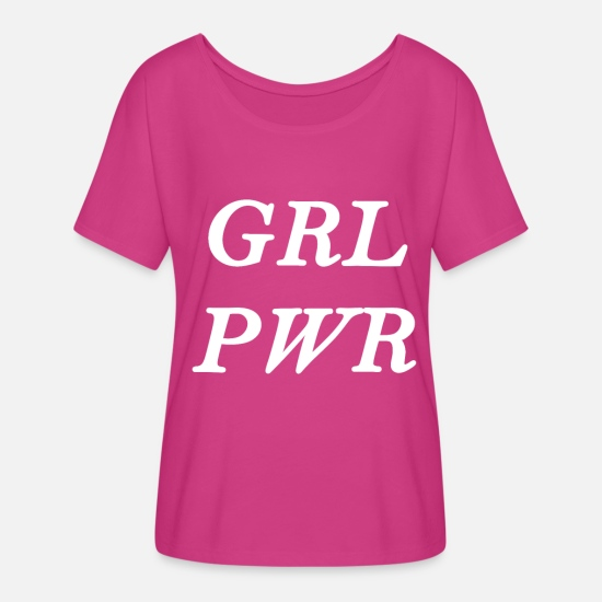 Woman Power T-Shirts - grlpwr - Women's Flowy T-Shirt dark pink