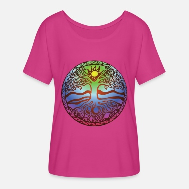 New Age Tree.png - Women's Flowy T-Shirt