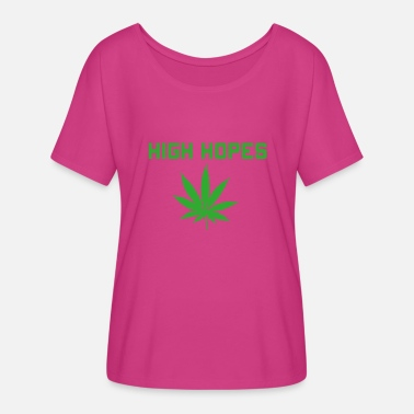 Cannabis High Hopes - Women's Flowy T-Shirt