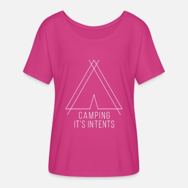 camping is in-tents white - Women's Flowy T-Shirt