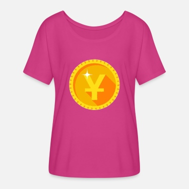 Yen Yen Gold Coin - Women's Flowy T-Shirt