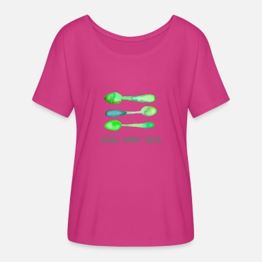 Fatigue Spoonie Support Squad (Green)! - Women's Flowy T-Shirt