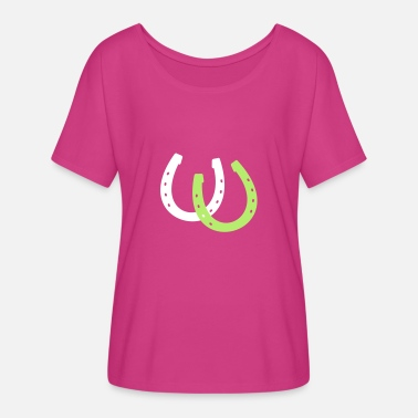 Horseshoe Horseshoes - Women's Flowy T-Shirt