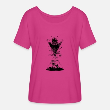 Surreal surreal hourglass -ocean and desert- - Women's Flowy T-Shirt
