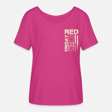 Red Friday Shirt - Remember Everyone Deployed - Women's Flowy T-Shirt