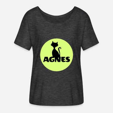 Agnes Agnes first name name personal gift cat - Women's Flowy T-Shirt