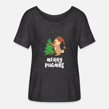 ab8c93009f Ugly Christmas Merry Pugmas Pug Pet Dog Funny Christmas - Women's  Flowy. Women's Flowy T-Shirt