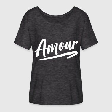 Amour - Women's Flowy T-Shirt
