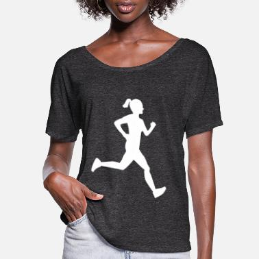 Girl Running Girl Running - Women's Flowy T-Shirt