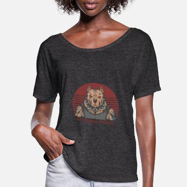 Black Stronger Pitbull Tee - Women's Flowy T-Shirt