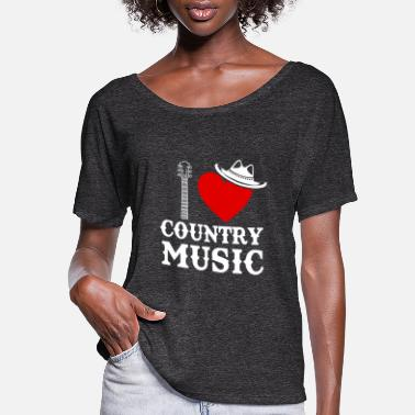 Country Country Music Heart - Women's Flowy T-Shirt