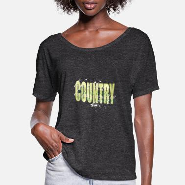 Country Country Life - Women's Flowy T-Shirt
