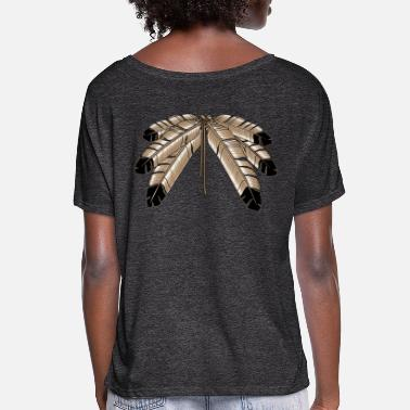 First Eagle Feather Shirts First Nations Art Gifts - Women's Flowy T-Shirt