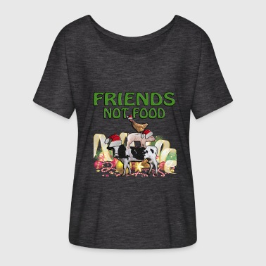 CHRISTMAS FRIENDS NOT FOO - Women's Flowy T-Shirt