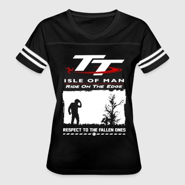 Isla TT isle of man ride on the edge respect to the fal - Women's Vintage Sport T-Shirt