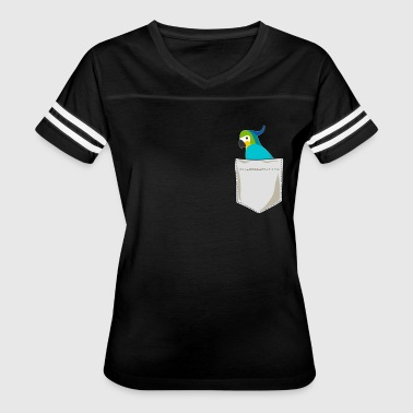 Just Go Everywhere With My Parrot In Pocket - Women's Vintage Sport T-Shirt