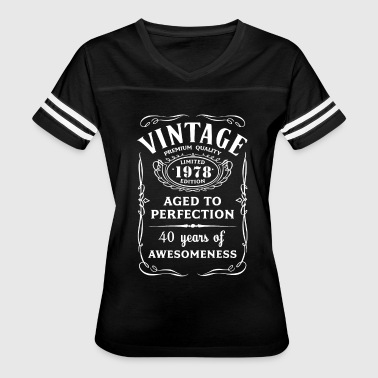 Vintage Limited 1978 Edition 40th Birthday Gift - Women's Vintage Sport T-Shirt