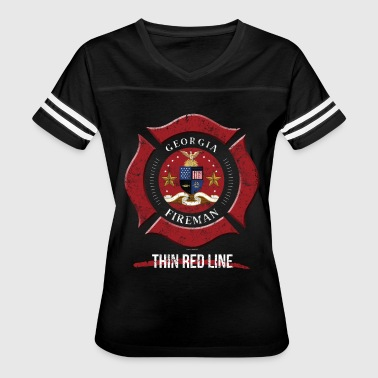 Firefighter Gift Georgia Firefighter Shirt Firefighter Gift - Women's Vintage Sport T-Shirt