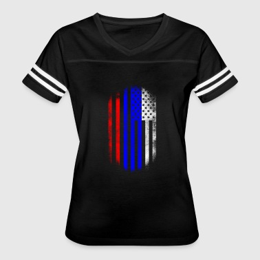 Usa Russia Russian American Flag Russia and USA Design - Women's Vintage Sport T-Shirt
