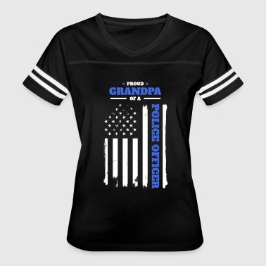 Proud Grandpa of a Police Officer - Women's Vintage Sport T-Shirt