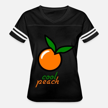Peach Coloring Cool peach two design - Women's Vintage Sport T-Shirt