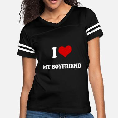 I Love My Mexican Boyfriend I LOVE MY BOYFRIEND ROMANTIC LOVING heart VALENTIN - Women's Vintage Sport T-Shirt