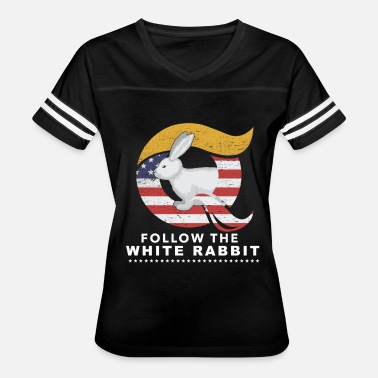 Infowars QAnon Art Follow the White Rabbit WWG1WGA Dark - Women's Vintage Sport T-Shirt