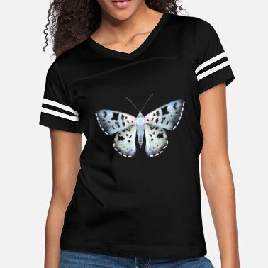 Black Watercolor Blue and Black Butterfly - Women's Vintage Sport T-Shirt