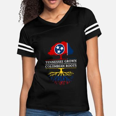 Colombia Roots Tennessee Grown with Colombian Roots Colombia - Women's Vintage Sport T-Shirt